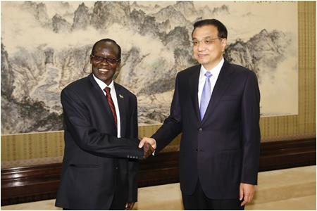 Li Keqiang: Hope South Sudanese Government Ensure Safety of Chinese Enterprises and People