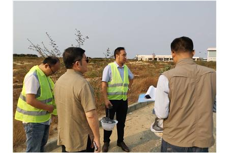 The Chairman visited the Angola Branch to inspect the Projects under construction