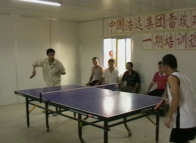 Overseas staff table tennis match