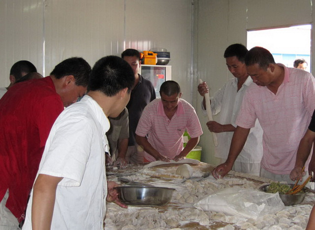 Overseas staff dumpling game
